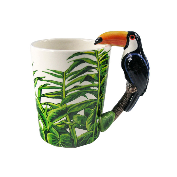 Toucan Shaped 3D Handle Mug