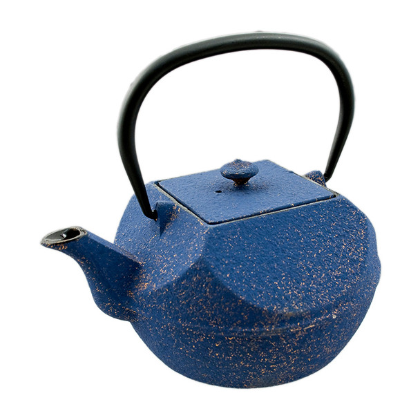 Cast Iron Teapot Pressed - Navy Blue