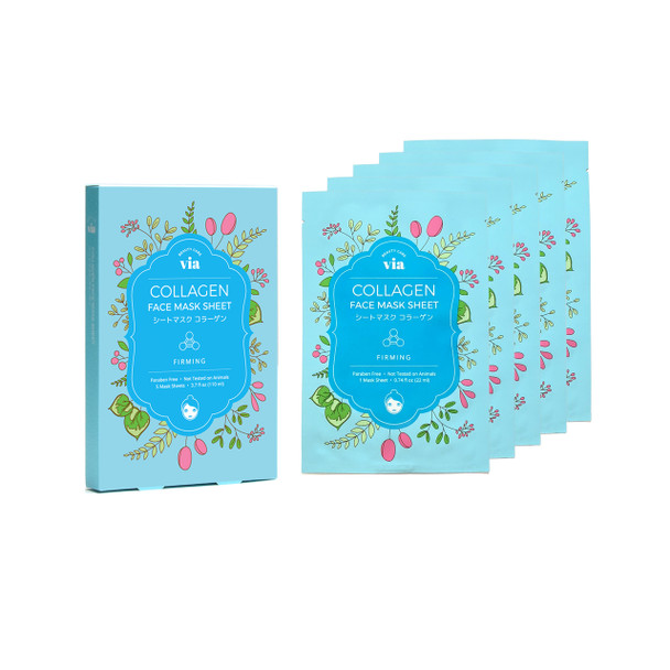 VIA Face Mask Sheet - Collagen (5 pc)