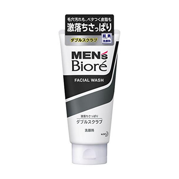 Biore MEN's Double Scrub Face Wash (130g)