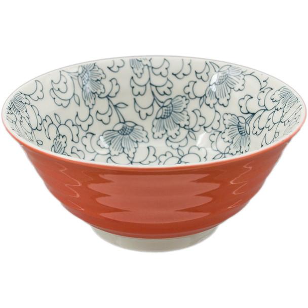 """Orange Line Blossom Pattern Bowl 6""""D, Set of 2"""