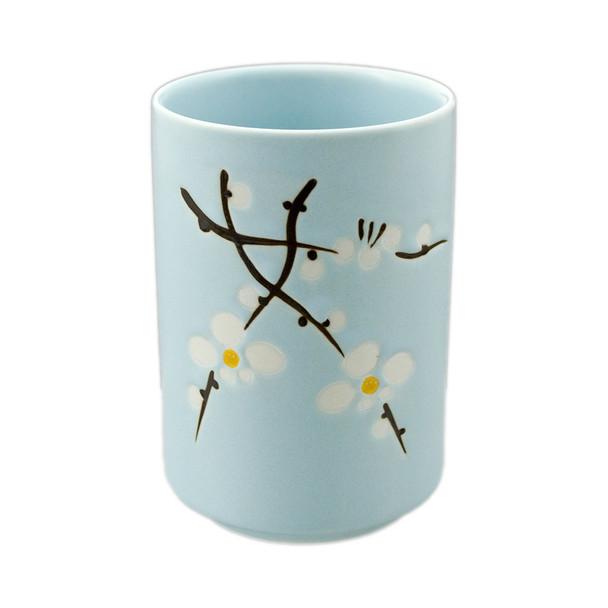"""Sky Blue Sakura Tea Cup 4.25""""H"""