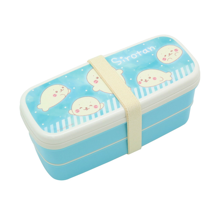 Sirotan Bento Lunch Box 2-Layer with Partition & Chopstick - Blue
