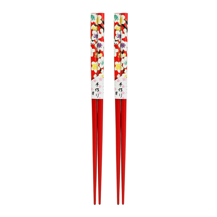 Red Petite Blossom Chopsticks 2pc Set