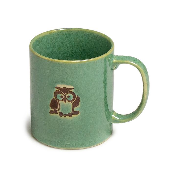 Turquoise Waving Owl Mug
