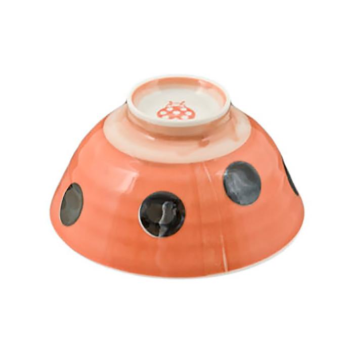 Lady Bug Dotted Bowl, Set of 5 - Orange/Black