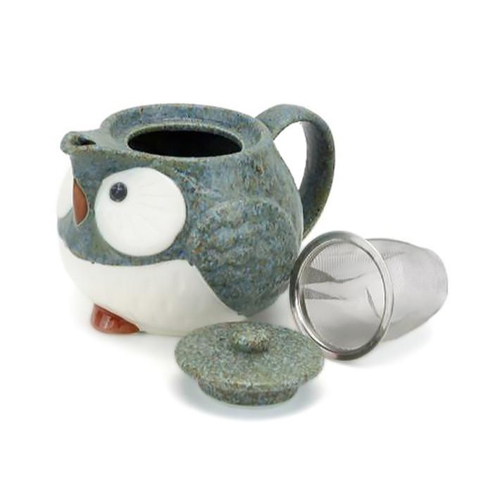 Stony Owl Mini Teapot with Infuser - Green