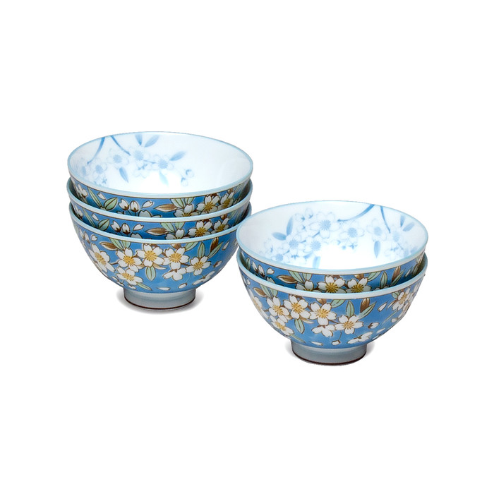 Haru Magnolia Blossom Bowl Set of 5 - Blue