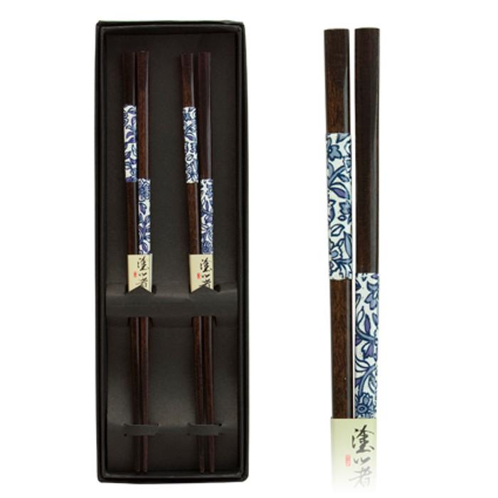 Blue Leaf Pattern Chopstick 2pc Set