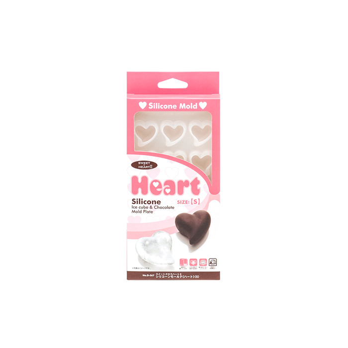 Heart Silicone Ice Cube and Chocolate Mold Plate - Small
