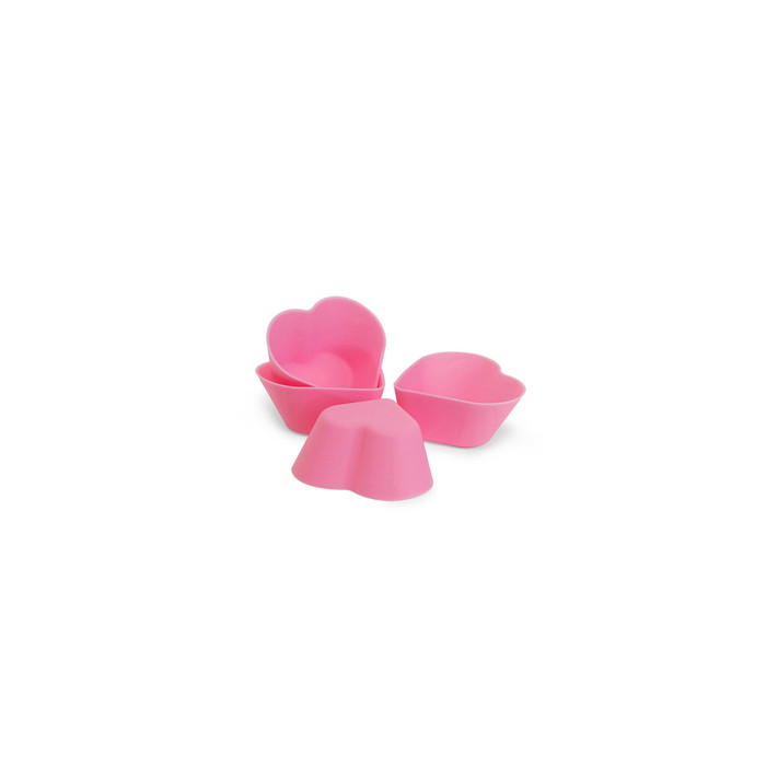 Silicone Heart Bento Food Cup - 4pcs