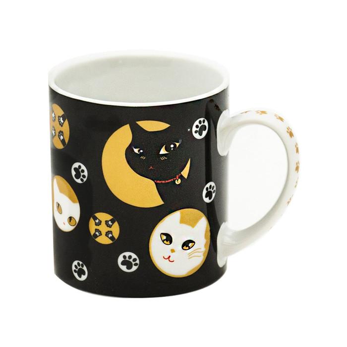 Mischievous Kitty-Cat Black Mug Set - 4pcs