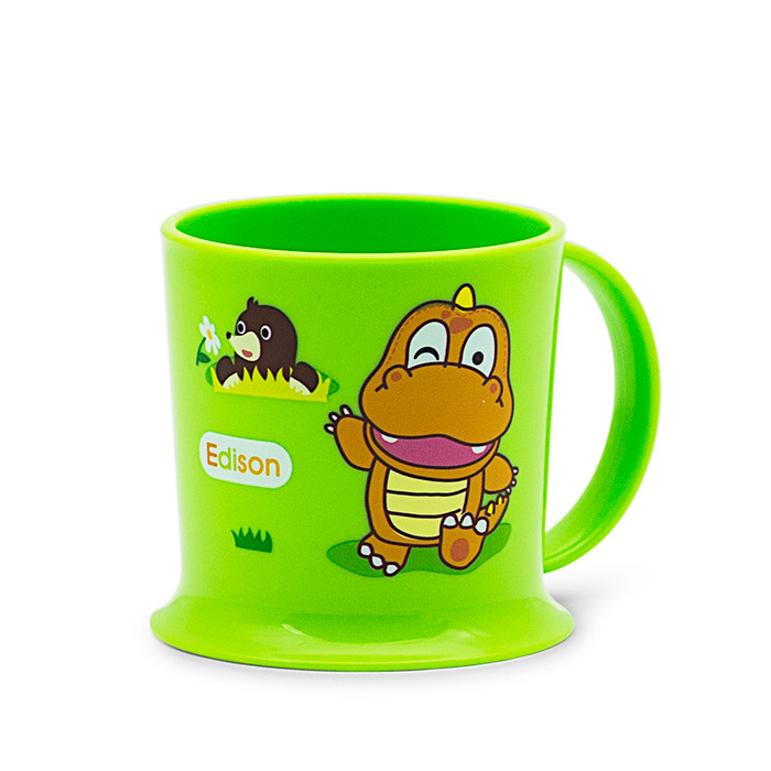 Edison Easy Drink Owl Mug - Green 7oz