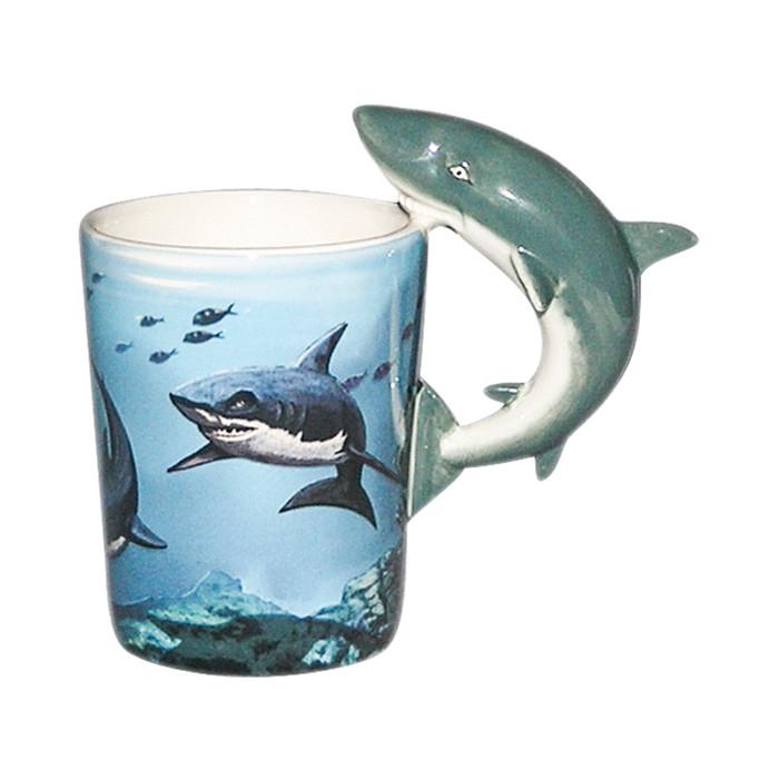 Shark Shaped 3D Handle Mug