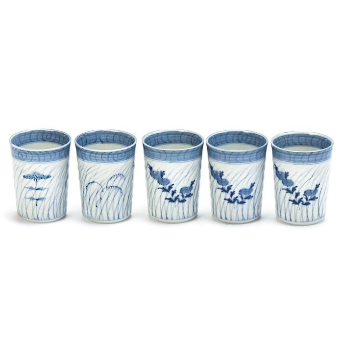 Ryuhogama Japanese Sake Cup Set 5-pc
