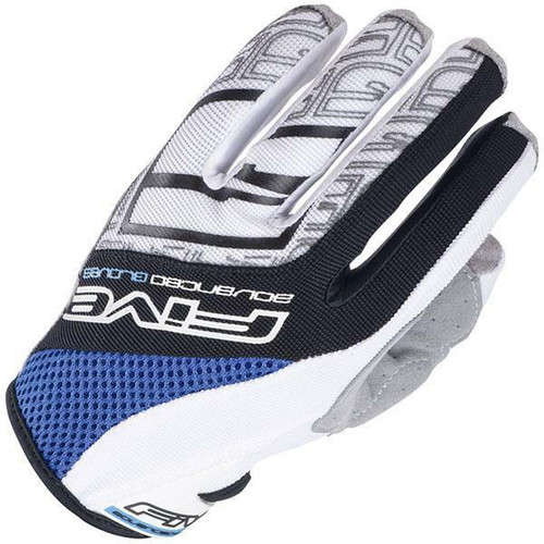 Five TRX Motorcross Style Motorcycle Gloves Blue Last Size SMALL SALE!!