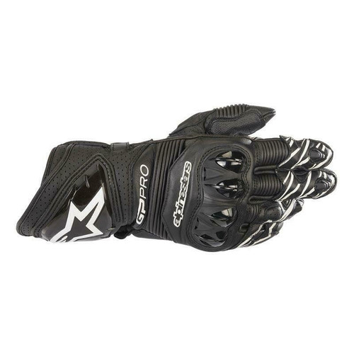 Alpinestars GP Pro R3 Leather Motorcycle Race Gloves Black