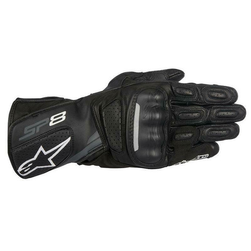 Alpinestars SP-8 V2 Leather Motorcycle Sports Glove Black & Dark Grey
