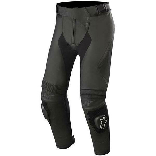 Alpinestars Missile V2 Leather Motorcycle Pants Trousers Regular Leg Black