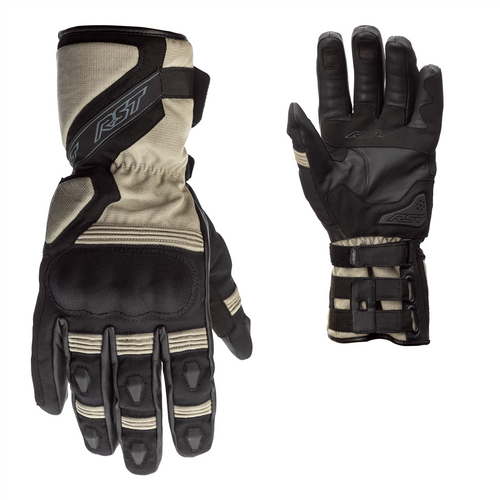 Breathable Textile /& Leather Motorcycle Gloves  2717 1717 RST Storm Waterproof