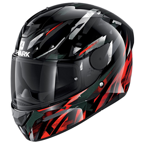 Shark D-Skwal 2 Kanhji KRW Motorcycle Helmet Red