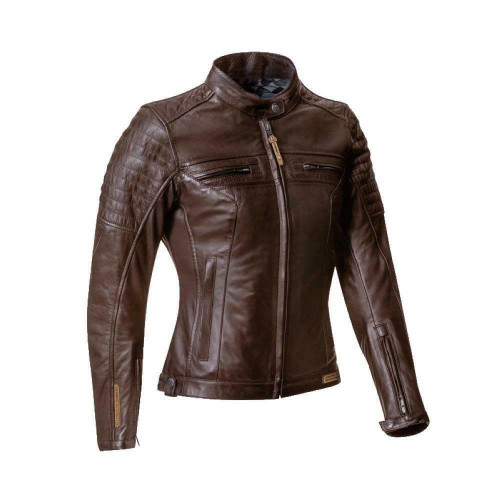 Ixon Torque Lady Leather Motorcycle Jacket CE Approved Brown