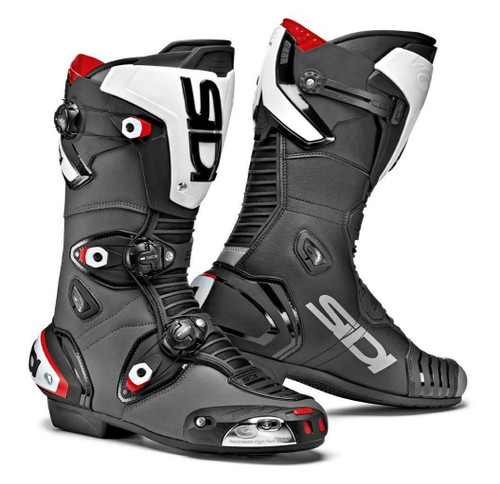 Sidi Mag-1 Sport Race Motorcycle Boots Black/Grey CE Approved