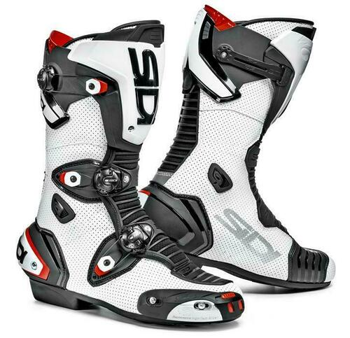 Sidi Mag-1 Air Perforated Sport Race Motorcycle Boots White CE Approved