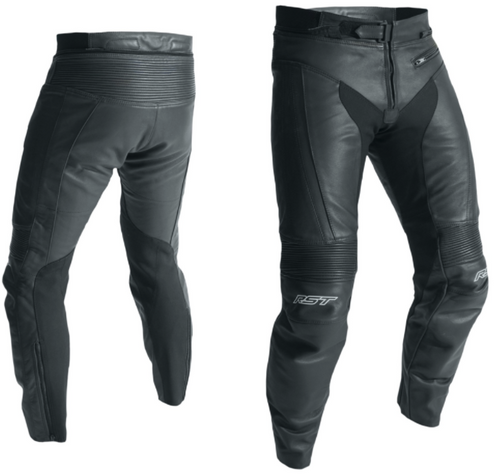 RST 2070 R-18 Leather Motorcycle Trousers Regular Leg Black CE Approved