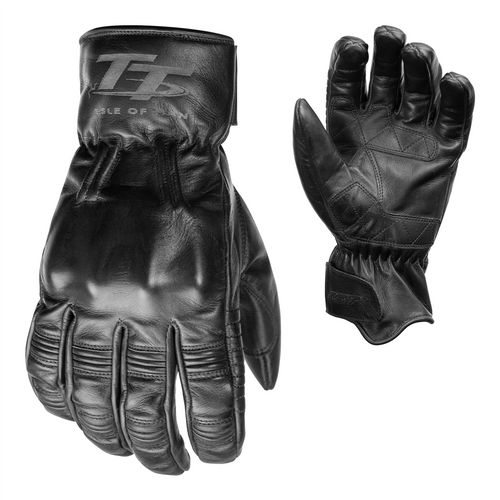 RST 2240 IOM TT Hillberry Motorcycle Leather Gloves Black