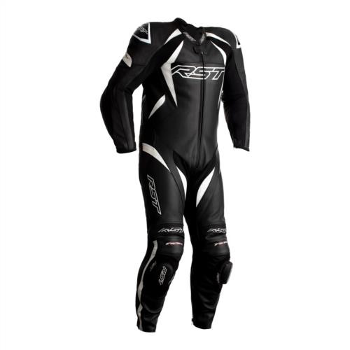 RST Tractech Evo 4 One Piece Motorcycle Leathers Black White Ce Suit 2355