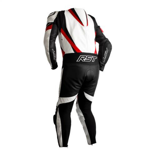 RST Tractech Evo 4 One Piece Motorcycle Leathers White Red Ce Suit 2355