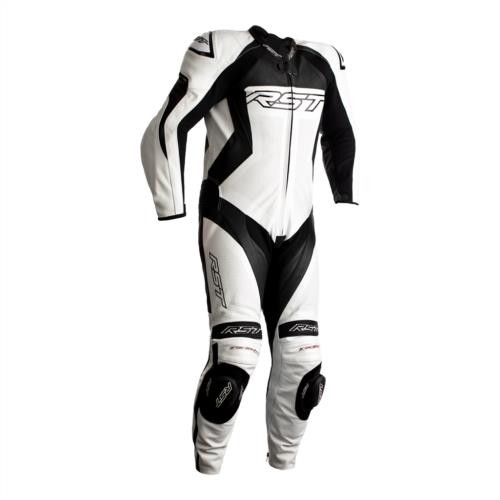 RST Tractech Evo 4 One Piece Motorcycle Leathers White Black Ce Suit 2355