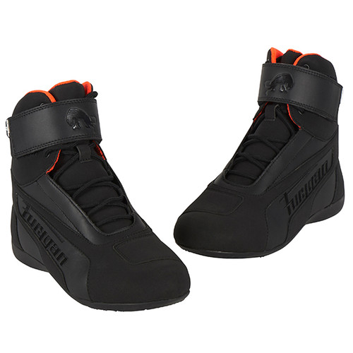 Furygan Zephyr D30 Waterproof Motorcycle Short Boots Black Orange