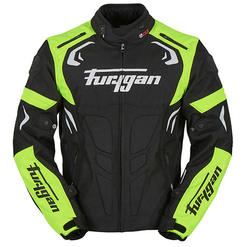Furygan Blast Waterproof Textile Motorcycle Jacket Black/ Fluo Yellow