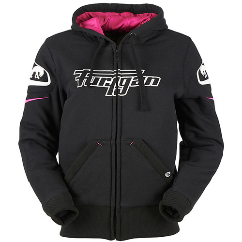 Furygan Luxio Lady Aramid Motorcycle Hoodie Jumper D30 CE Approved Armour Black