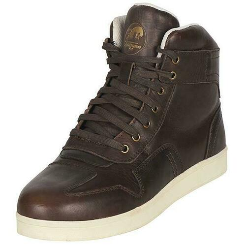 Furygan Austin Motorcycle Trainer Sneaker Waterproof CE Approved Boots Brown