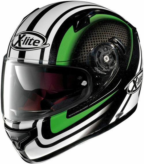 X-Lite X-661 Slipstream Green Motorcycle Crash Helmet Carbon Save £150