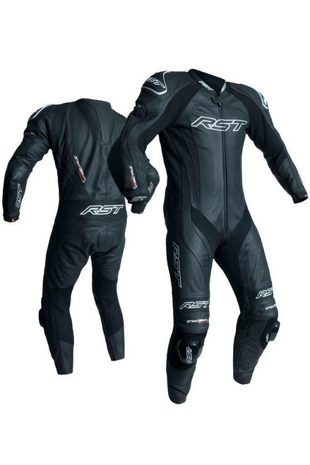 RST 2041 Tractech Evo 3 Leather One Piece Suit Black 44 & 2092 Gloves Black L