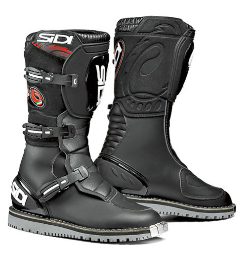 Sidi Courier Motorcycle Enduro Trials Boots Black EU 47 SALE