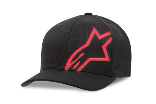 Alpinestars Corp Shift 2 Flexfit Hat Motorcycle Cap Black Red