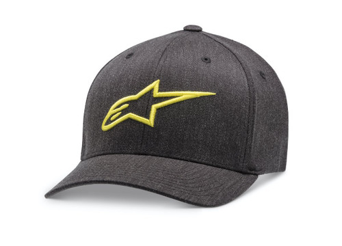Alpinestars Ageless Curve Hat Motorcycle Cap Hat Charcoal Yellow
