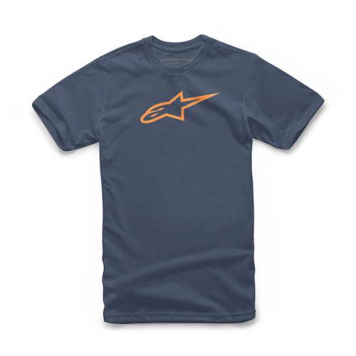 Alpinestars Ageless Classic Tee Navy Orange Motorcycle Casual T-shirt