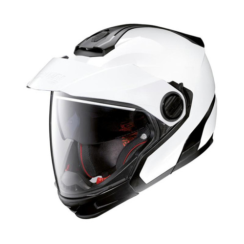 Nolan N40-5 GT Road Crossover Motorcycle Helmet Metal White N-Com 005