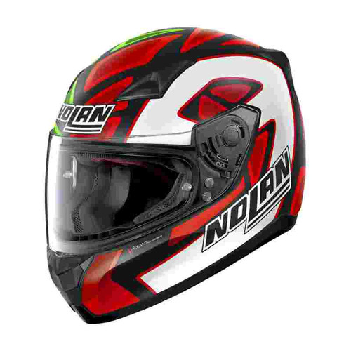 Nolan N60-5 Petrucci Misano Race Colours Full Face Motorcycle Helmet 088 Replica