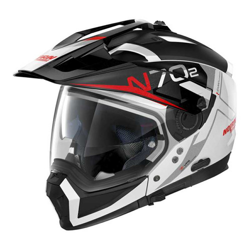 Nolan N70-2X Adventure Crossover Helmet Bungee N-Com 039 White Black Red