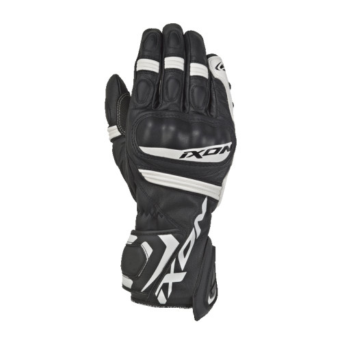 Ixon RS Tempo Motorcycle Sport Road Race Gloves Black White M