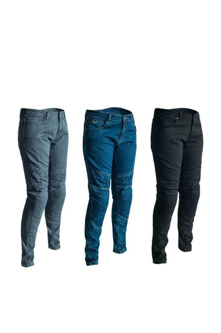 RST Ladies 2089 Aramid Straight Leg Motorcycle Jeans + CE Approved + Knee Armour