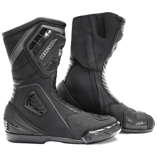 Richa Drift Evo Waterproof Motorcycle Boots Sports Styled Ce Approved Black