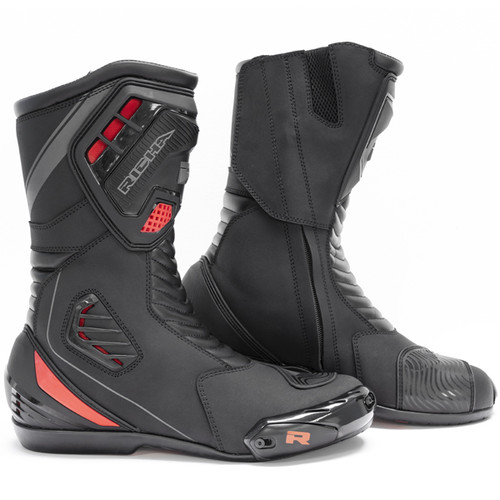 Richa Drift Evo Waterproof Motorcycle Boots Sports Styled Ce Approved Black Flo
